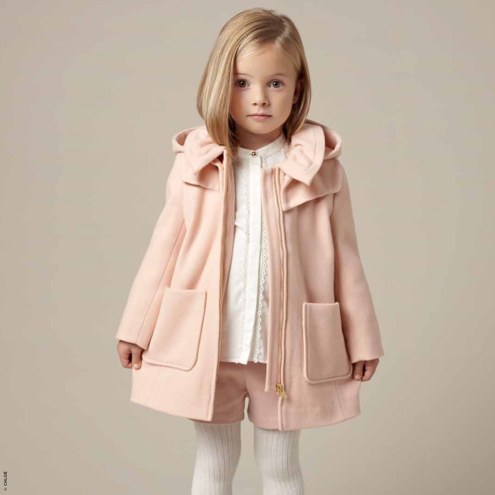 manteau en drap de laine chlo pour fille. Black Bedroom Furniture Sets. Home Design Ideas