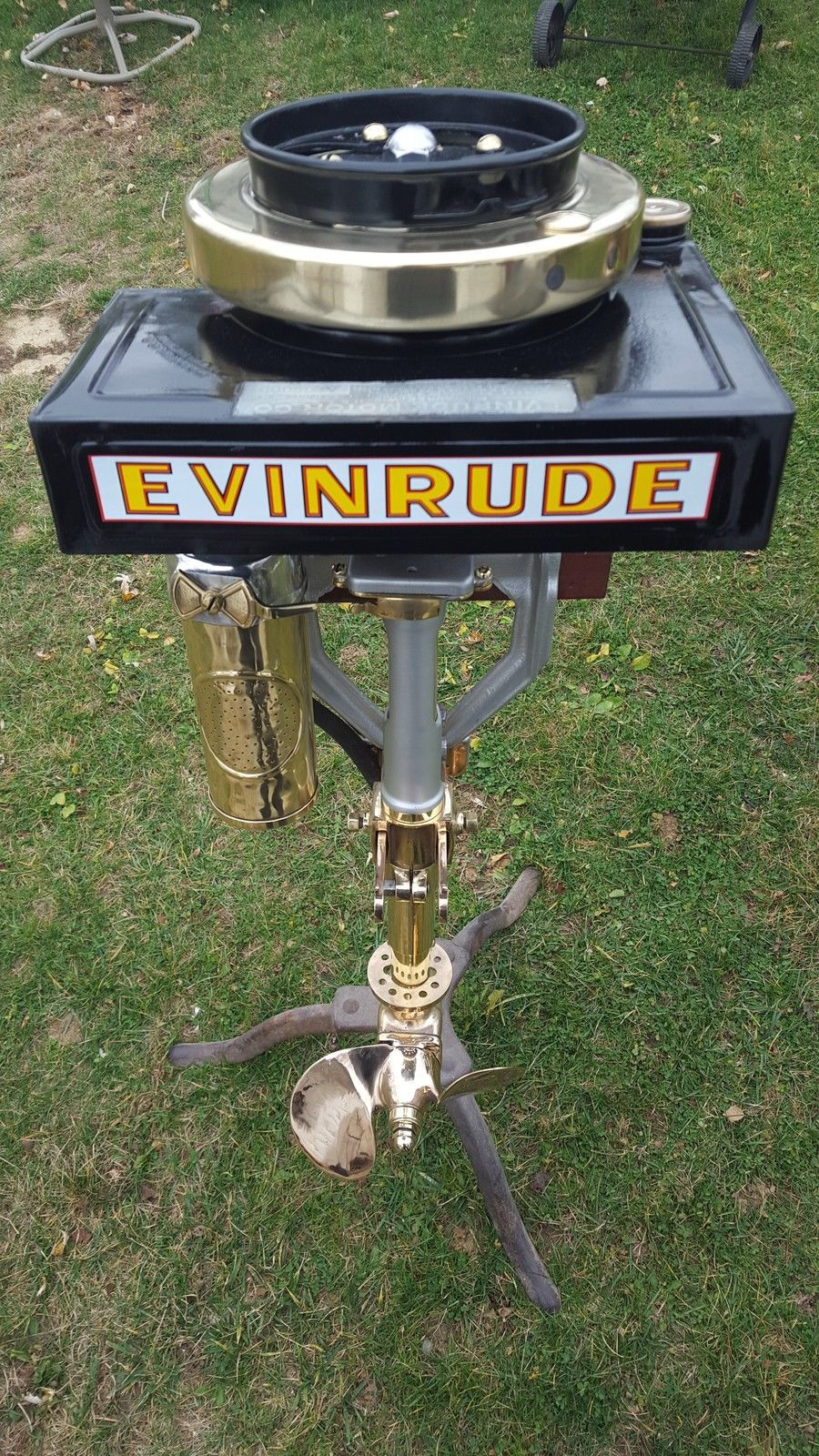 1917 Evinrude rowboat motor. Talk about classy in the day !!