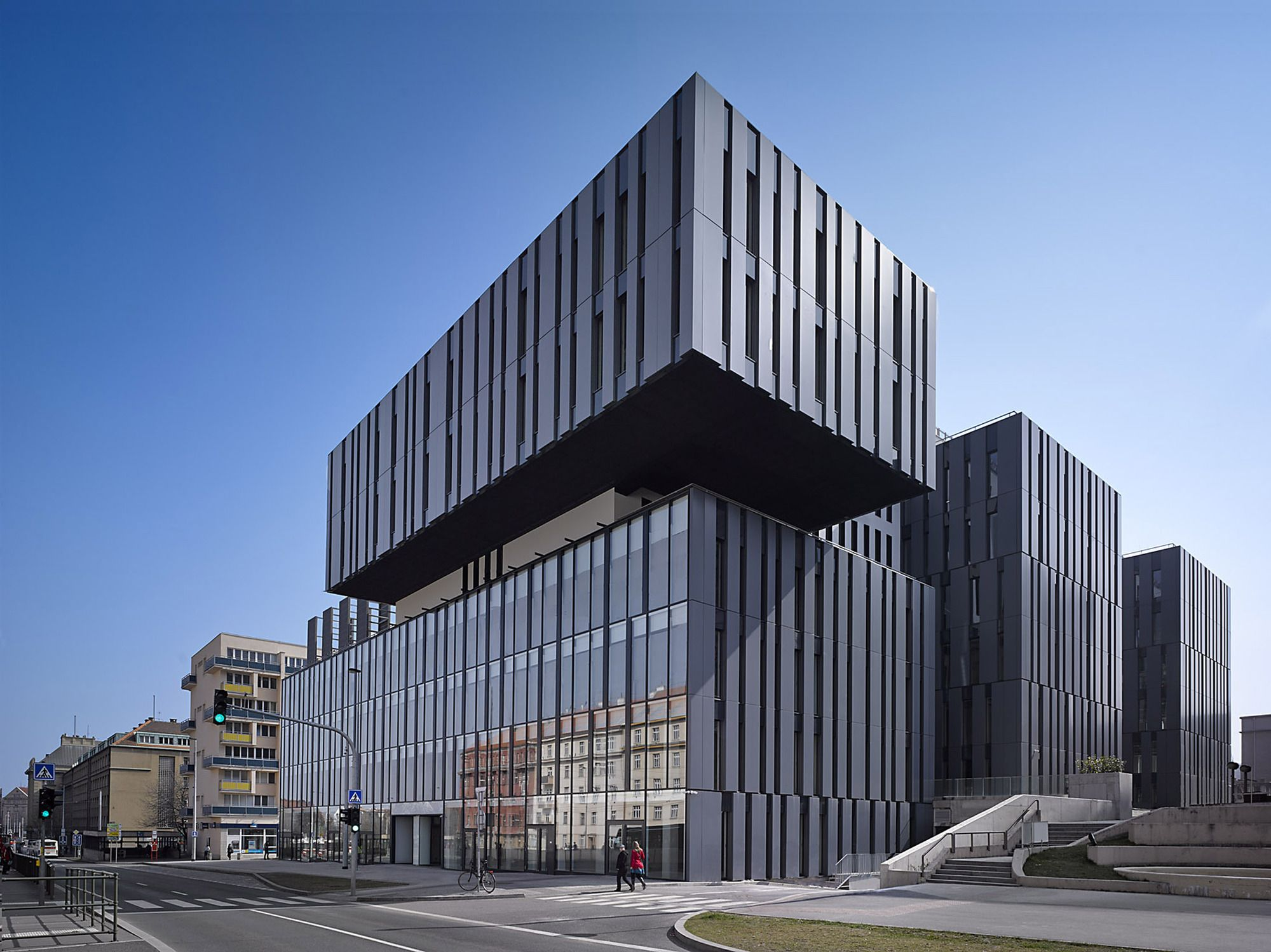 Image 1 Of 28 From Gallery Of The Blox X2f Dam Architekti Photograph By Filip Slapal Architecture Office Building Architecture Facade Architecture