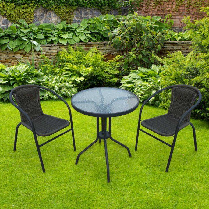 3 Piece Wicker Bistro Set Poundstretcher Bistro Set Rattan Outdoor Furniture Rattan Corner Garden Furniture