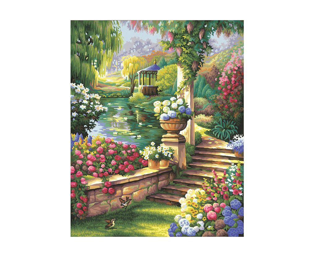 Schipper 609130379 Malen Nach Zahlen Gartenparadies Premium Meisterklasse Malen Nach Zahlen Gartenparadies Garten