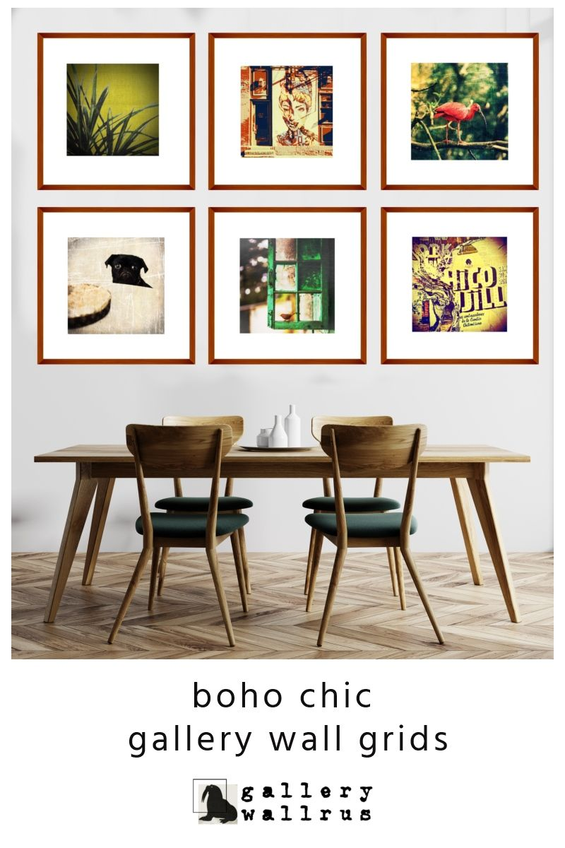 Boho Chic Gallery Wall Grids For Skandinavian Style Rooms