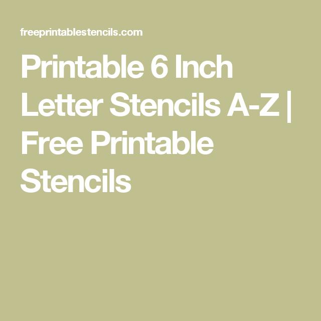 Printable 6 Inch Letter Stencils A Z | Free Printable Stencils