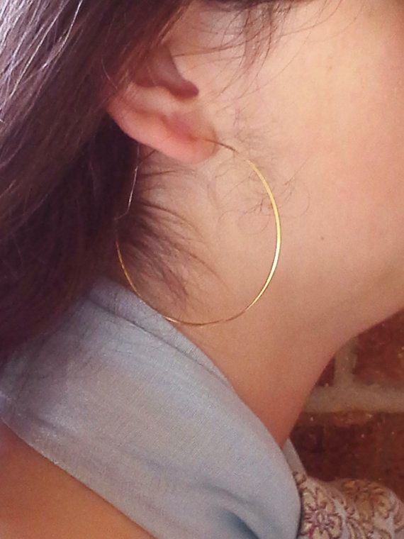Hey I Found This Really Awesome Etsy Listing At Https 84945271 Gold Hoop Earrings 2 Inch Ultra Thin