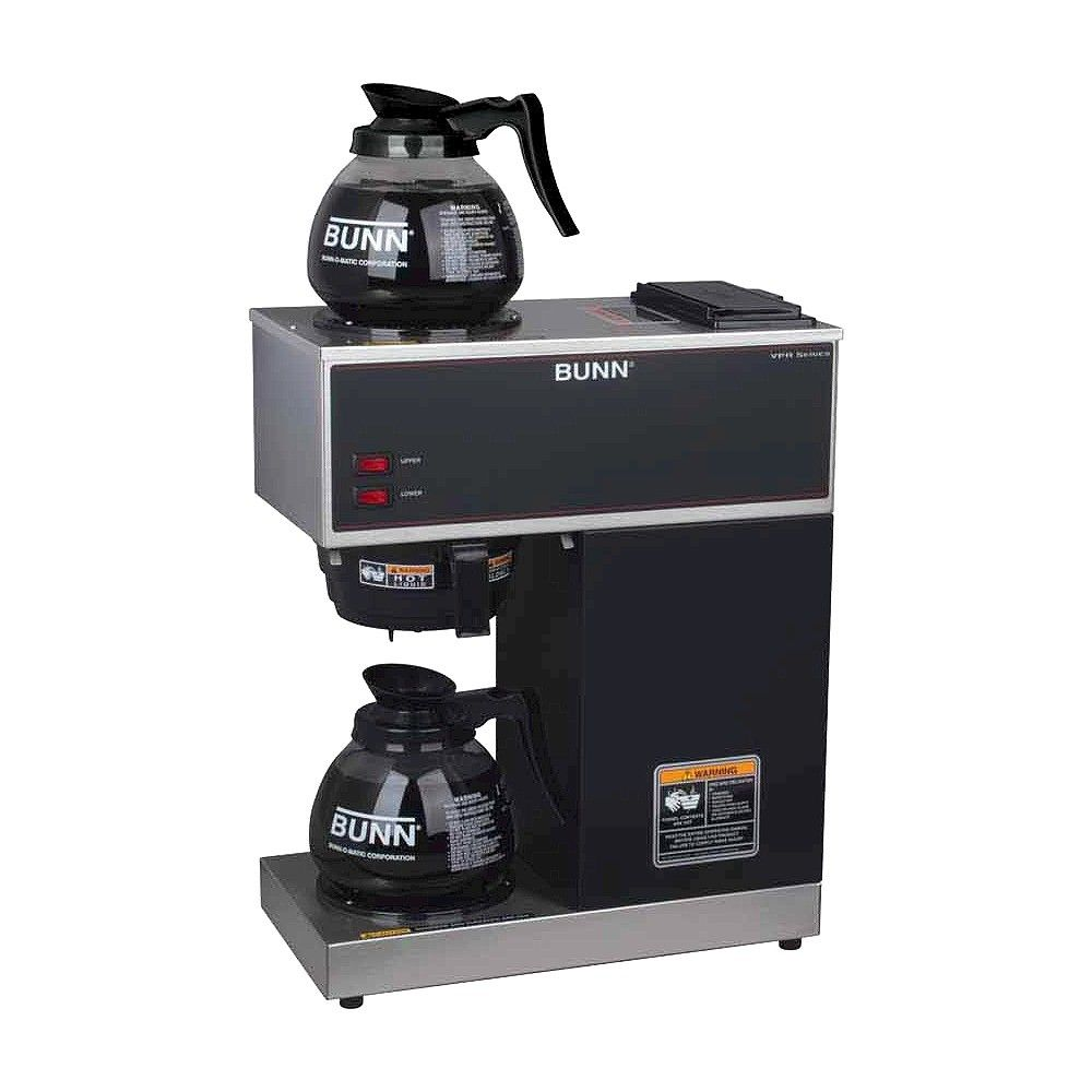 Bunn Vpr 12 Cup Pourover Commercial Coffee Brewer With Two Glass Decanters Black Commercial Coffee Makers Bunn Coffee Maker Bunn Coffee