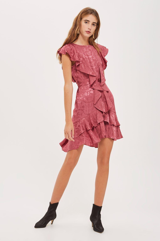 72b06ecf836 Jacquard Ruffle Skater Dress