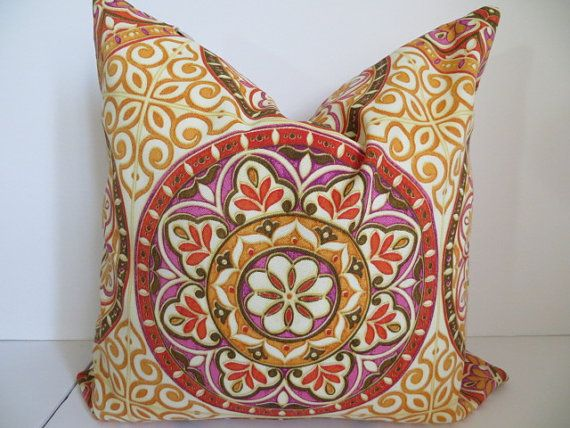 18x18 Pillow Outdoor Pillow Indoor Pillow  Orange by ClavelFashion, $24.00