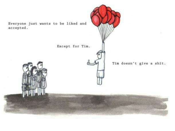 Tim don't give a shit.
