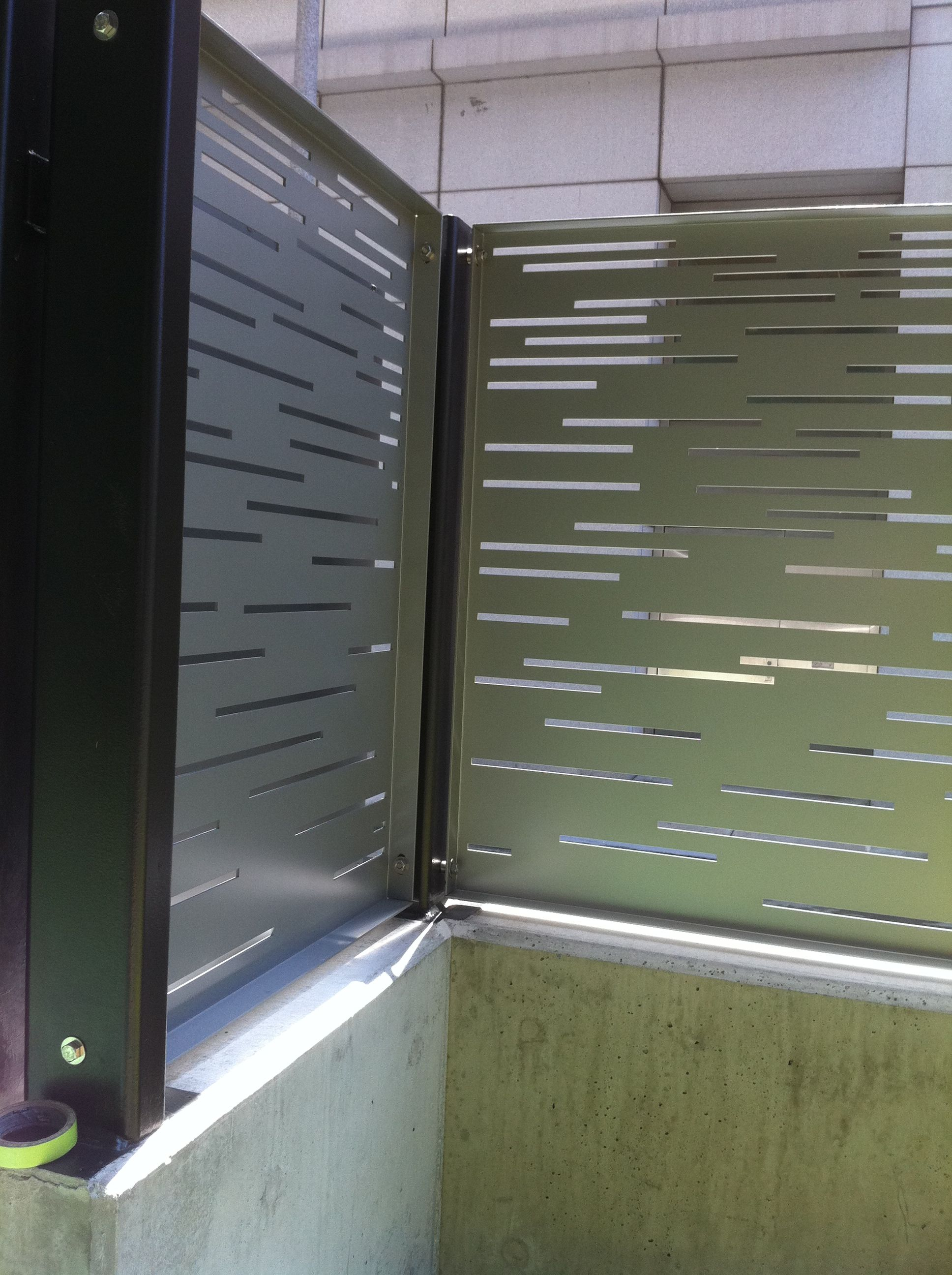 Modern Metal Fence Panels Security Fence Inside View Kynar Aluminum Fencing Bok