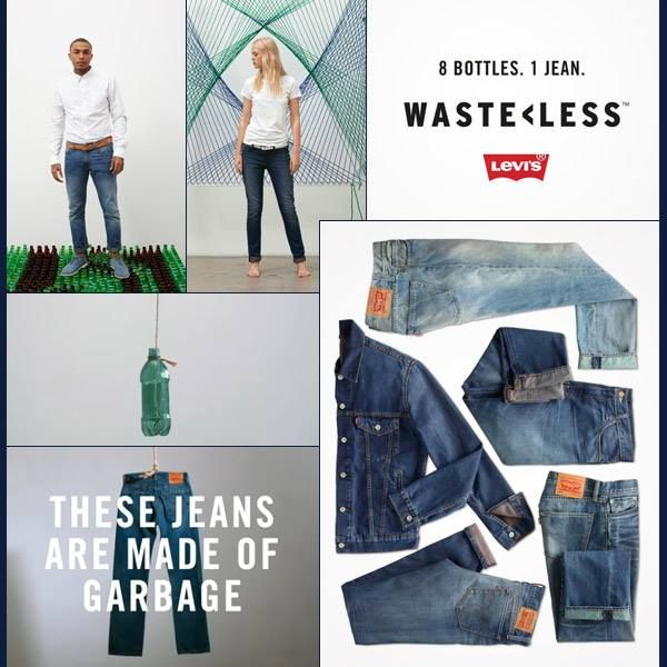 d1667d721 Levi's jeans made out of garbage... 1 million plastic bottles are used  every 20 minutes in the US - Levi's decided to do their part against the  huge problem ...
