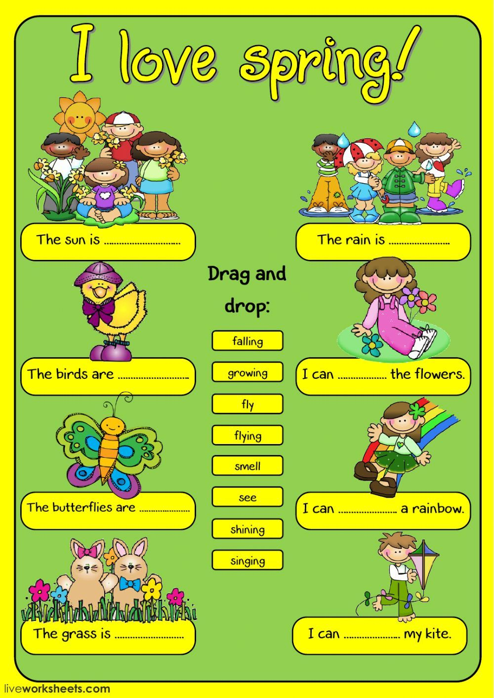 Spring Interactive And Downloadable Worksheet You Can Do The Exercises Online Or Download Th Seasons Worksheets Spring Vocabulary English As A Second Language [ 1413 x 1000 Pixel ]