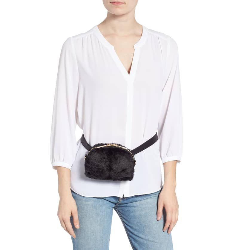 Mali + Lali Lana Faux Fur   Vegan Leather Belt Bag 5a380657da4b1