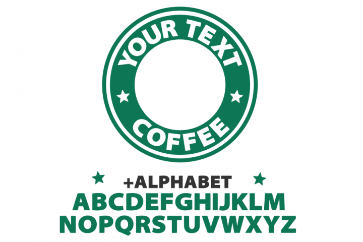 Starbucks svg, starbucks custom logo template svg, coffee