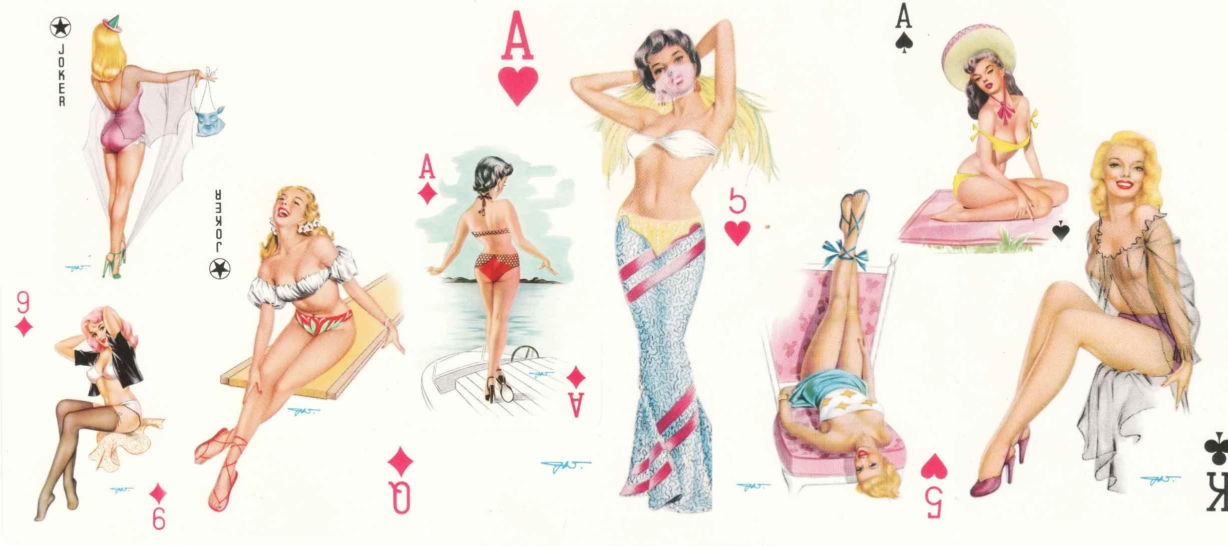 Girl playing card