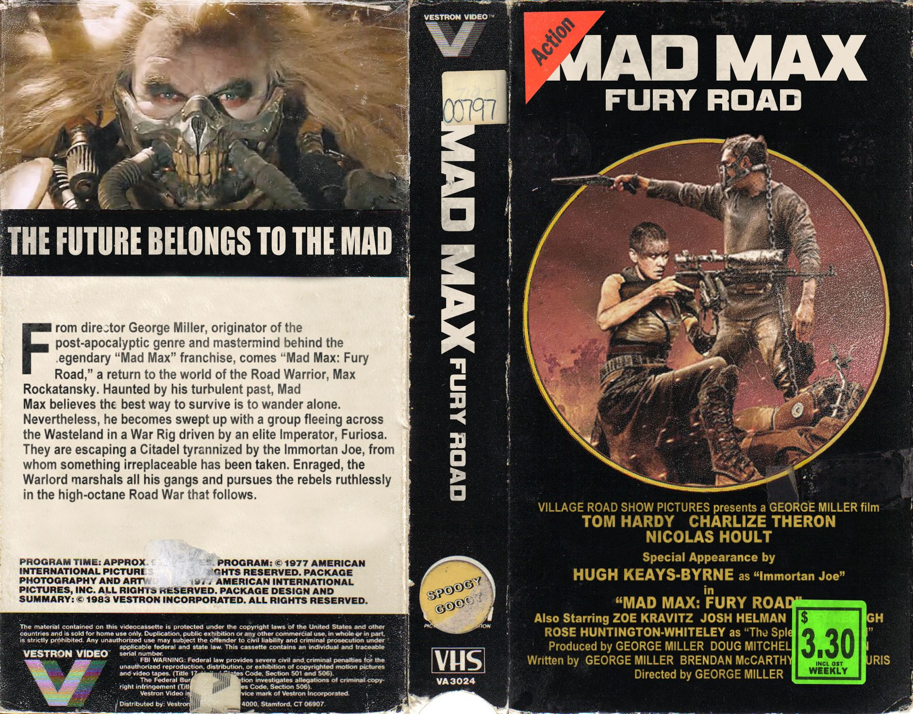 Mad Max Fury Road Vhs Cover Art Mad Max Fury Road Book Cover The Road Warriors