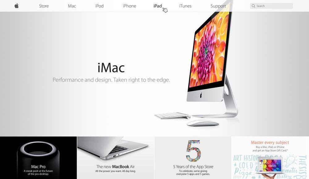 Apple Website Flat Apple Apple Menu New Macbook Air