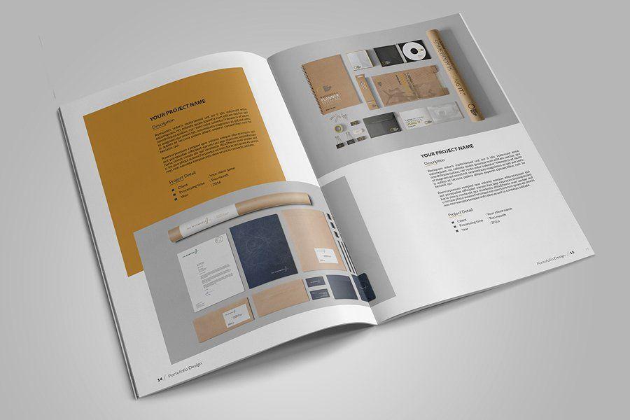Graphic Design Portfolio Template #Indesign#Adobe#easily