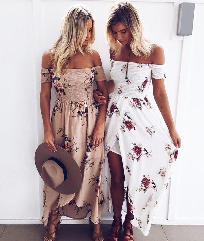 e1d37533d3d5d Boho Life - Beach Flower Dress in 2019   d r e s s e s   Dresses ...