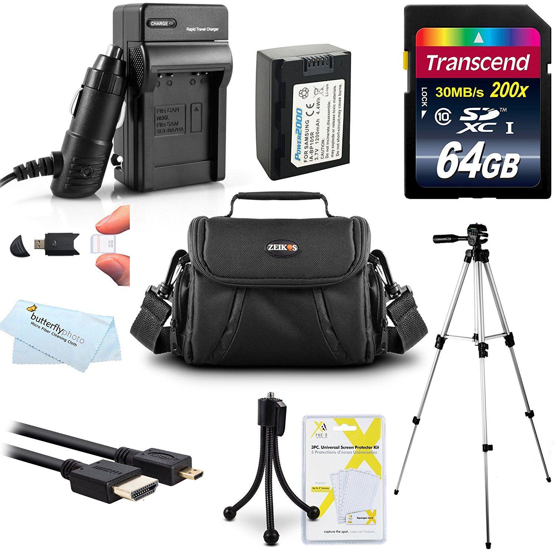 64GB Accessories Kit For Samsung F90, HMX-F90, HMX-F90BN