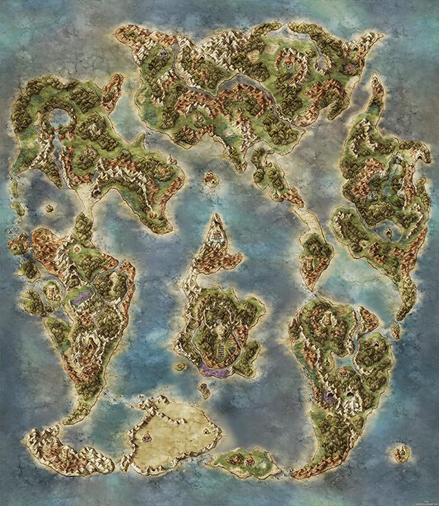Beautiful Video Game World Maps Fantasy World Map Fantasy Map