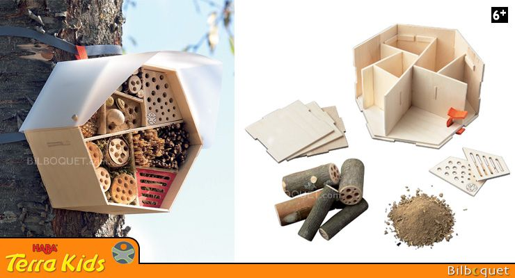 Hôtel pour insectes - Kit d'assemblage Terra Kids Haba - Explorateurs de la nature - Jeux de plein air