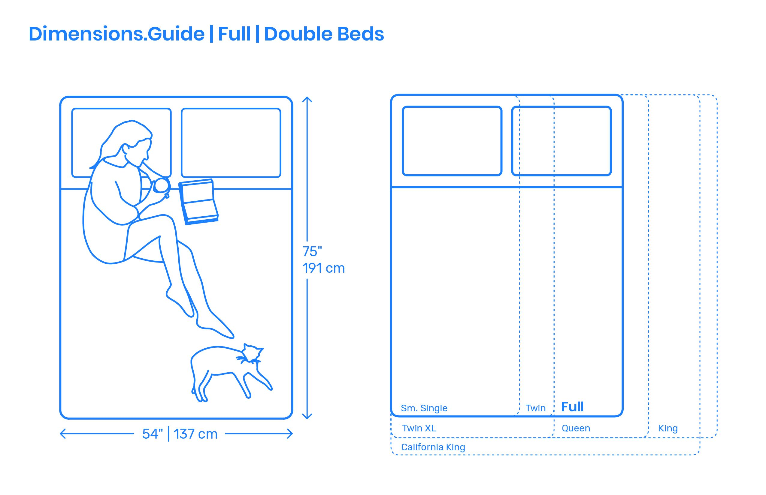 Double Bed Dimensions.Full Beds Also Known As Double Beds Are Sized For Sleeping Two