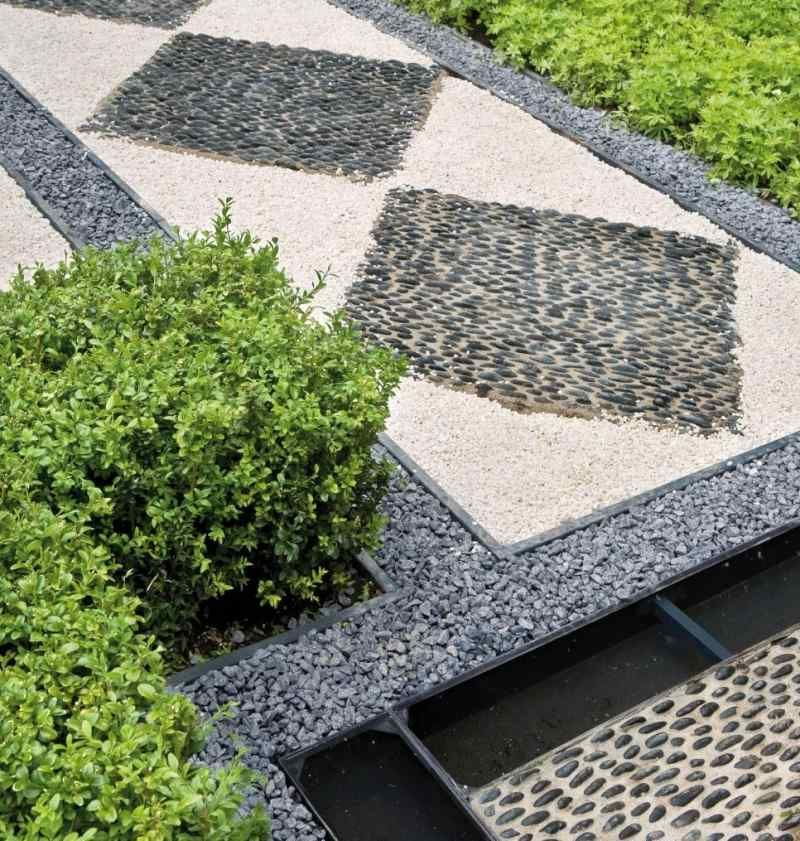 Jardin Moderne Avec Du Gravier Dcoratif Galets Et Plantes  Design
