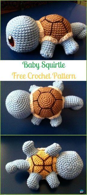 Crochet Turtle Amigurumi Toy Softies Free Patterns