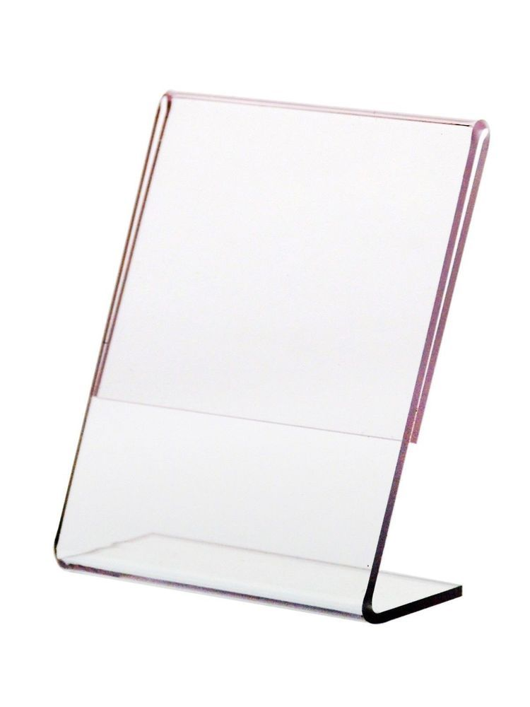 2 1 4 W X 3 1 4 H Slant Back Table Tent Ad Frame Sign Holder Marketingholders Sign Holder Menu Sign Holder Plastic Items