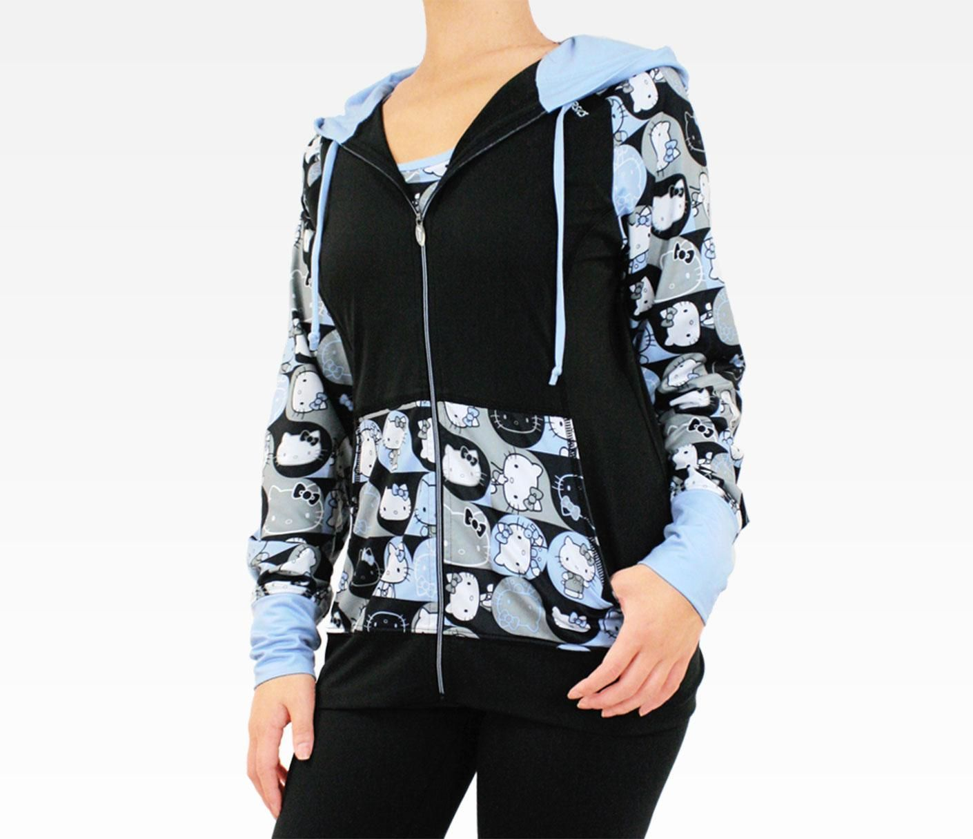 Asics X Hello Kitty Hooded Jacket Blue Hello Kitty Clothes Hooded Jacket Hooded Jacket Blue [ 1215 x 1410 Pixel ]