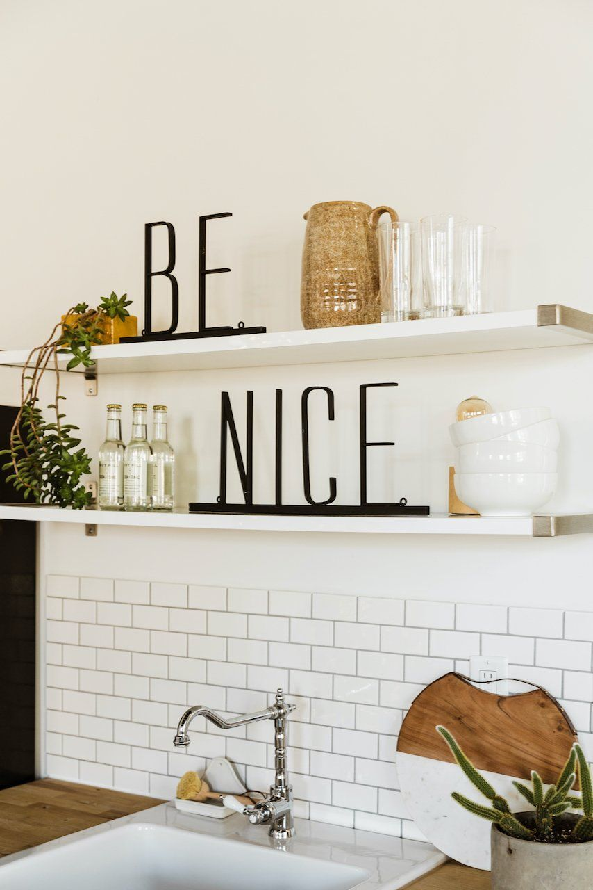 Be Nice Metal Sign Kitchen Shelf Decor Wall Feature