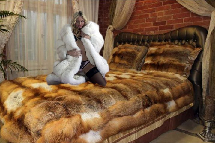 Fur Den Fur Den Fur Blanket Fur Bedding Fox Fur Coat
