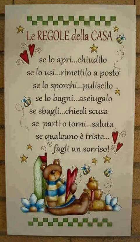 Regole della casa frasi e poesie pinterest inspiration - La famiglia e lo specchio in cui dio si guarda ...