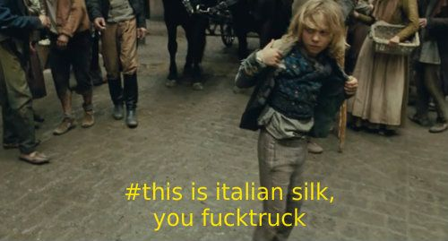 thepluralisphoenixii: thereallesmiscaptions: The Real Les Mis Captions FUCKTRUCK. this should just be everyone's comeback of choice… i know it's mine