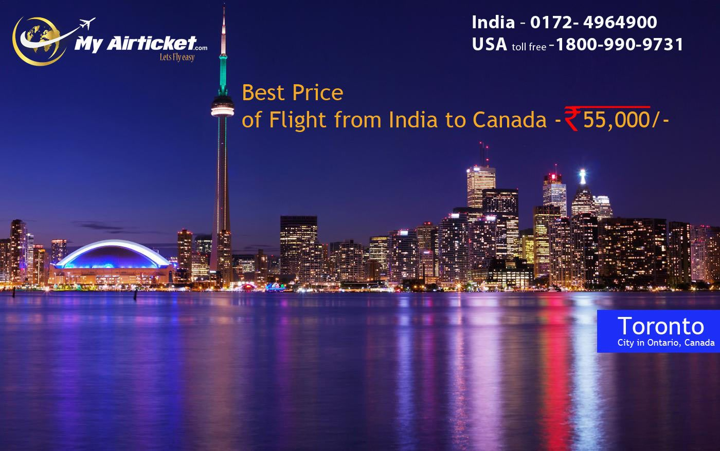 Toronto in CANADA.. travel flights airfare airline