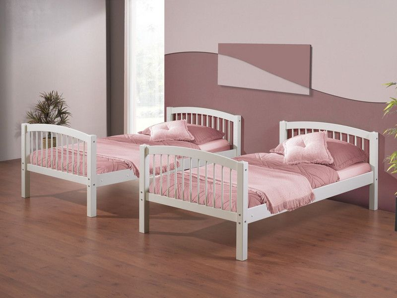 369 Linon Home Decor Products White Twin Over Twin Bunk Bed From