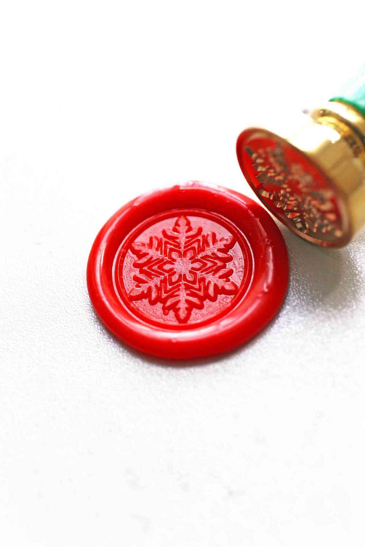 Snow Flake Wax seal stamp/ wax sealing kit /Custom wedding seals ...
