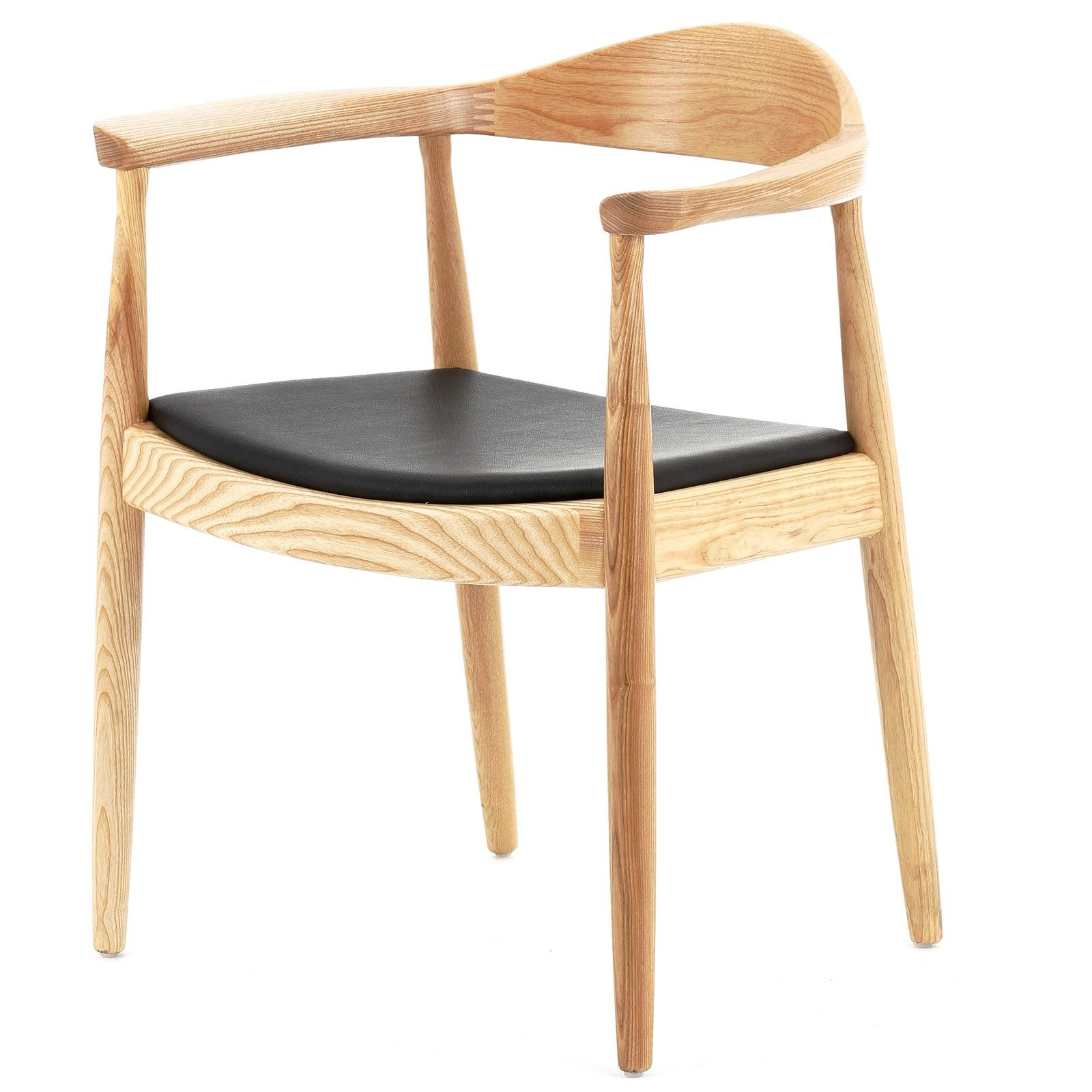 Replica Hans Wegner Round Ash Chair Dining Chairs
