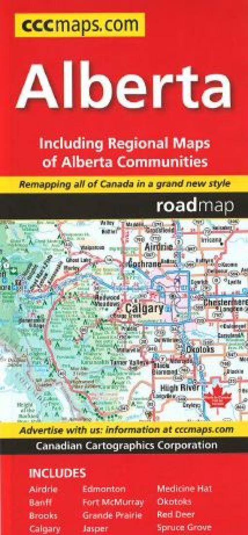 Alberta Road Map by Canadian Cartographics Corporation   Pinterest ...