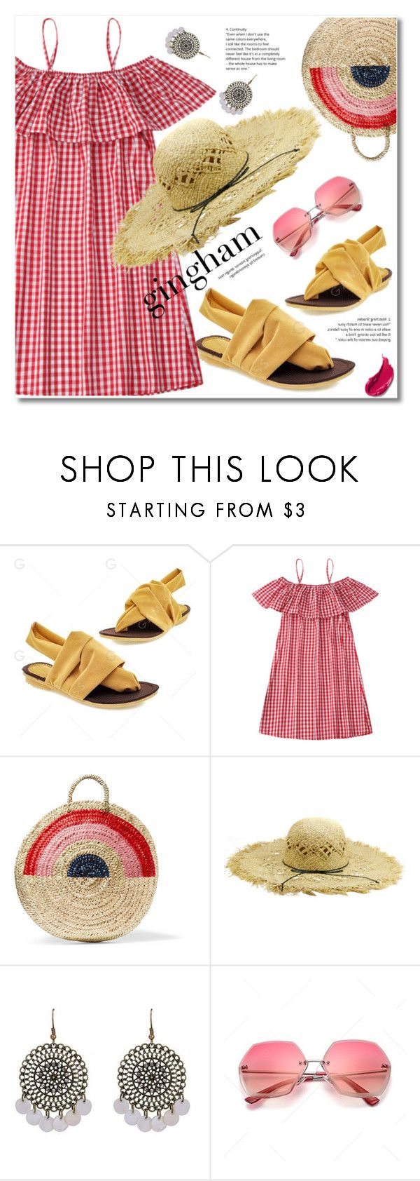 """""""Red gingham"""" by fshionme ❤ liked on Polyvore featuring Vanessa Seward"""