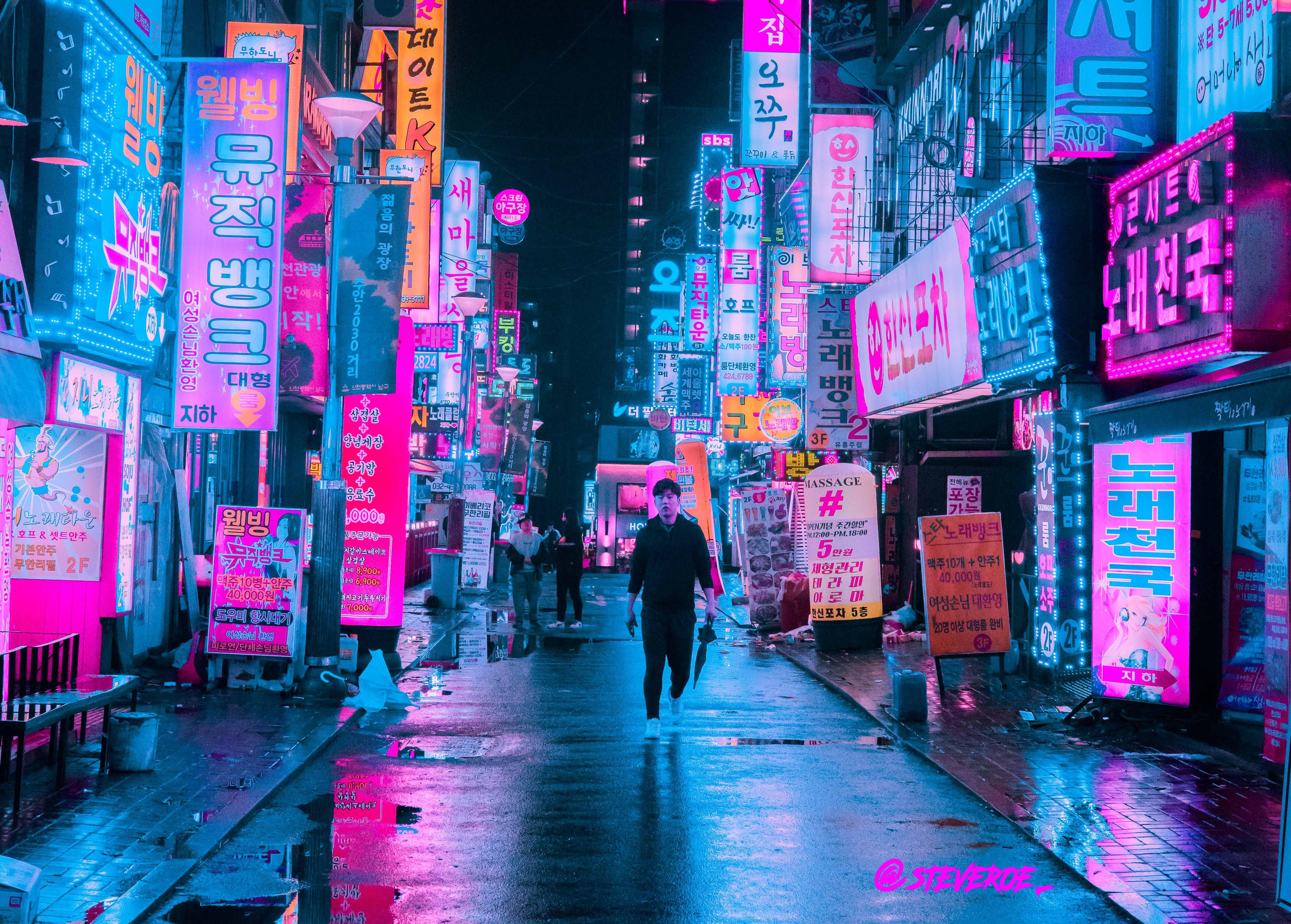 Incheon South Korea [4774 3417] | <3Korea in 2019 | Cyberpunk city