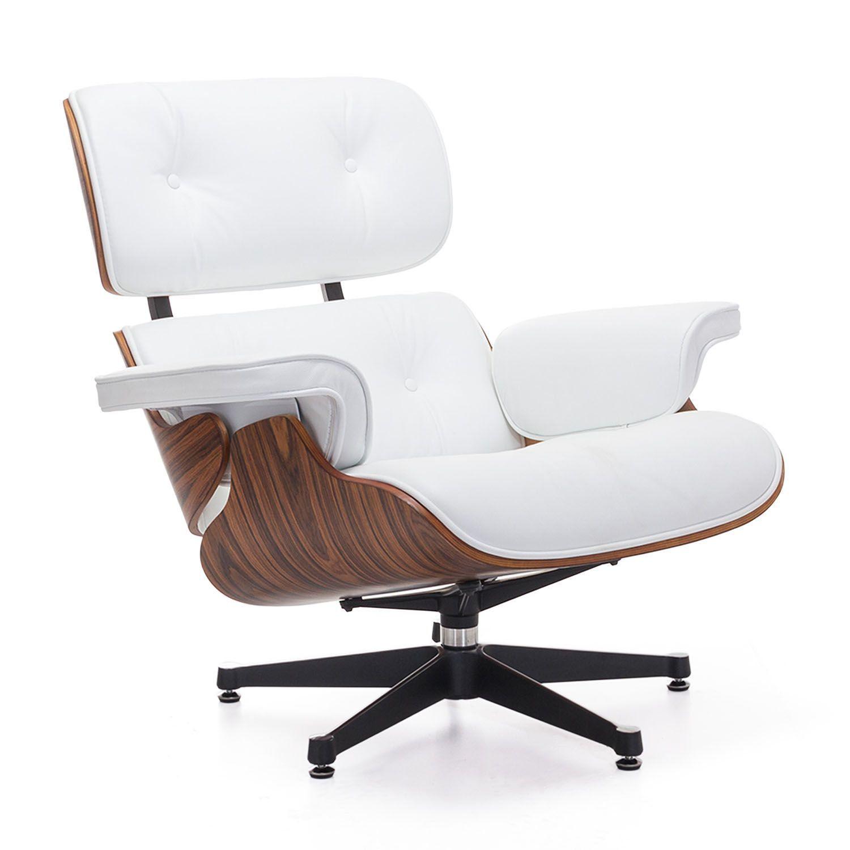 Poltrona Eames Bianca.Ispirata Alla Lounge Chair Di Charles Ray Eames Poltrona