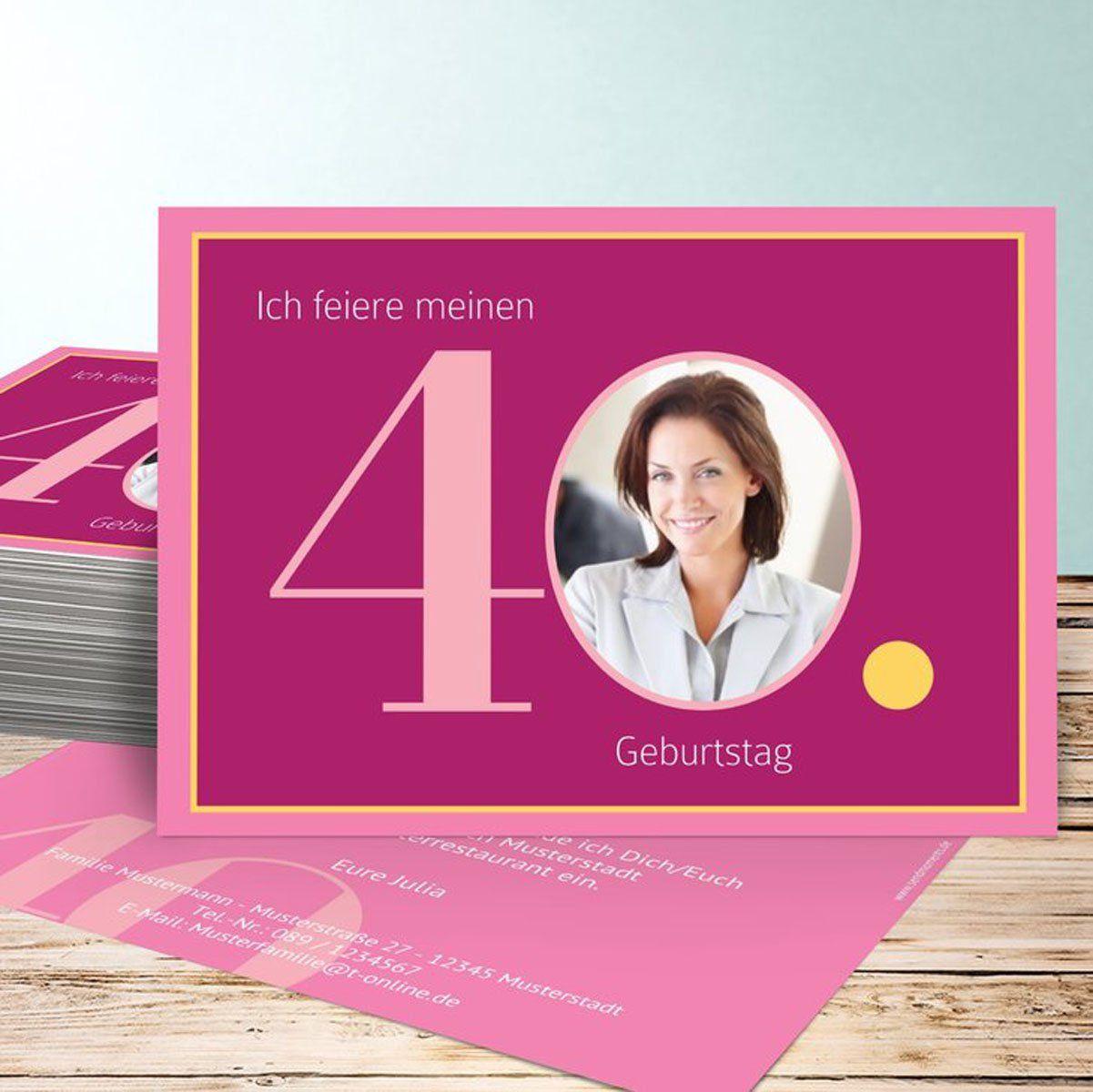40 geburtstag einladung (mit bildern)   einladung 40