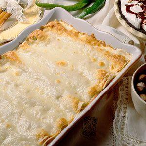 creamy chicken enchilada...
