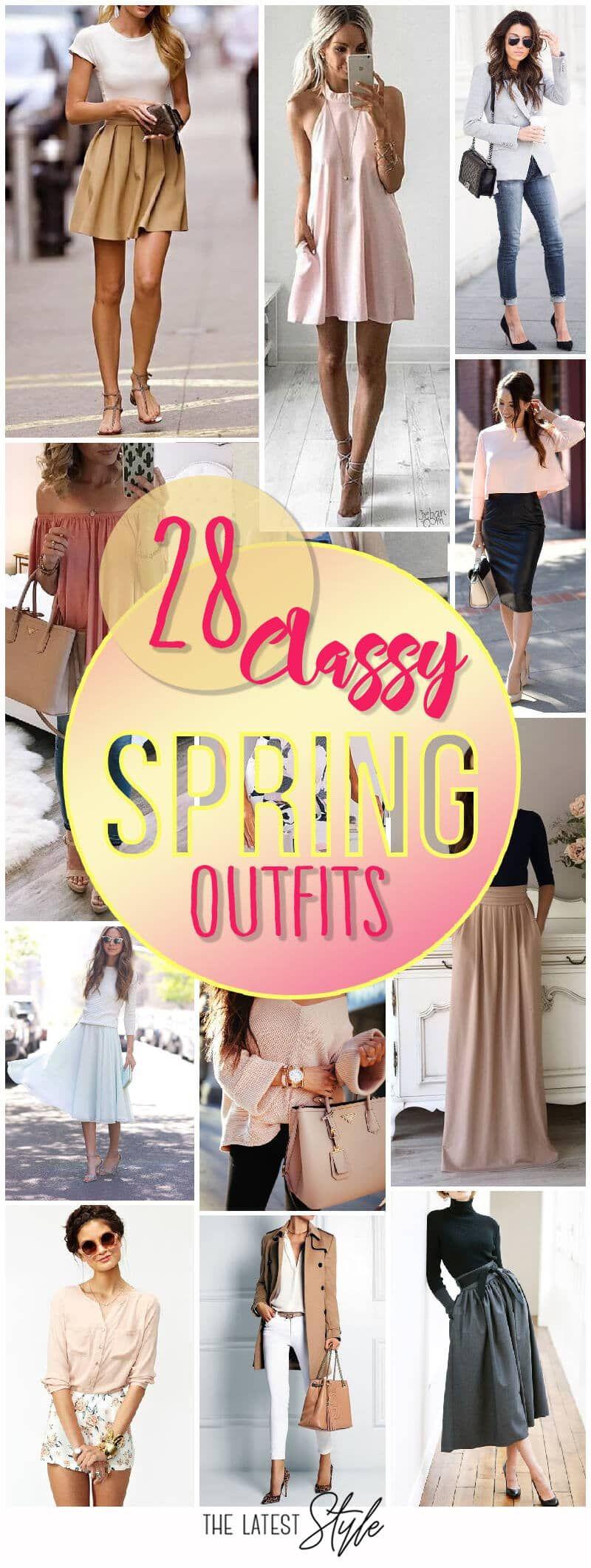 28 Elegante Frühlingsoutfits #womenscasualfashion