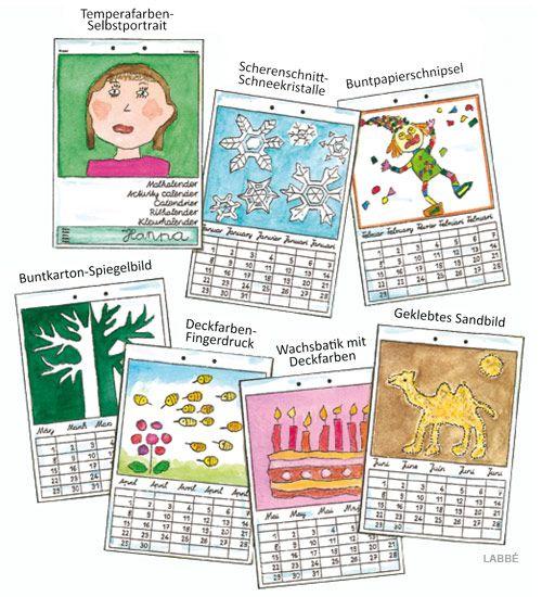 malkalender schule kalender gestalten kalender und. Black Bedroom Furniture Sets. Home Design Ideas