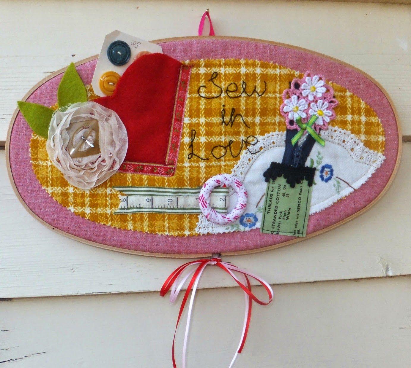 Sew in Love hoop art tutorial http://heartworkz.blogspot.com.au/2015/03/sew-in-love-hoop-art-tutorial.html