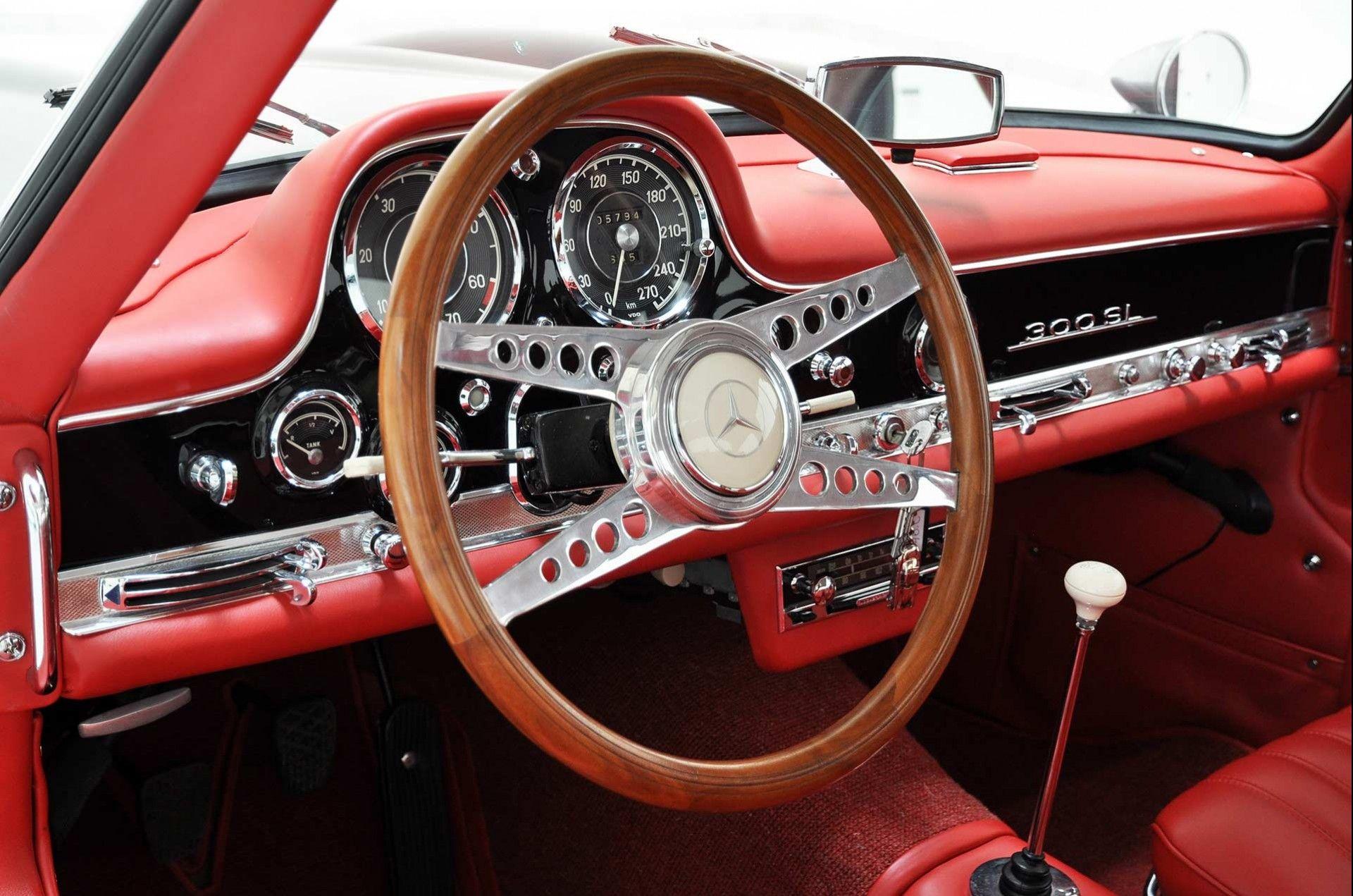 1956 Mercedes Benz 300 Sl Gullwing Interior Mercedes Benz 300