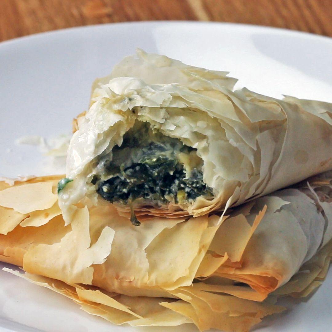Greek Spinach Pies (Spanakopita) Recipe by Tasty