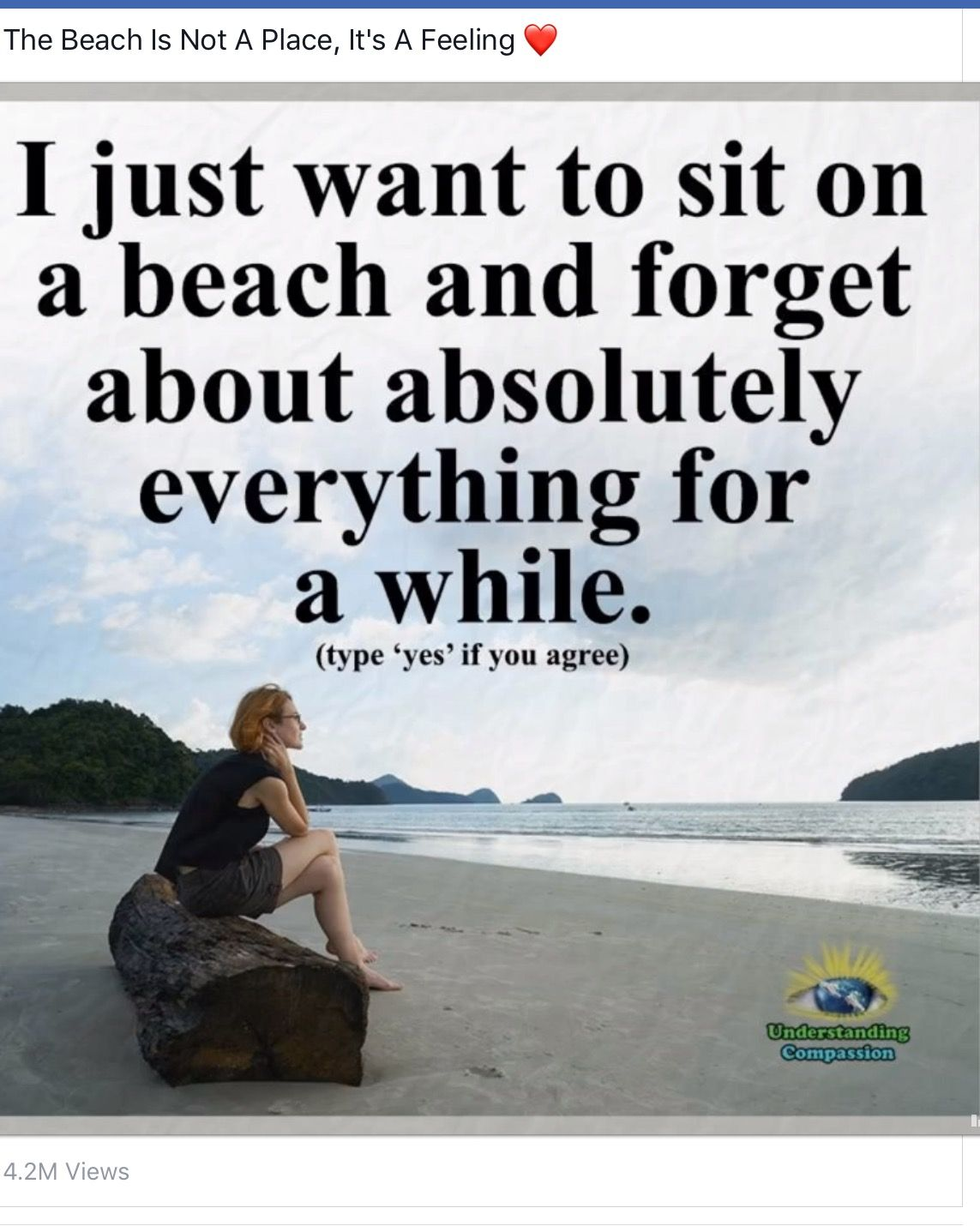 Except You Wanna Sit On The Beach With